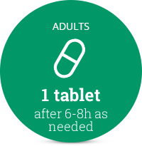1 tablet after 6-8h as needed